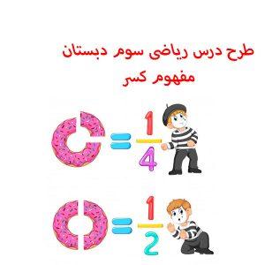 دانلود طرح درس - ریاضی سوم دبستان - مفهوم کسر