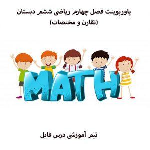 پاورپوینت فصل چهارم ریاضی ششم دبستان(تقارن و مختصات)