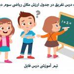 پاورپوینت درس تفریق در جدول ارزش مکانی ریاضی سوم دبستان