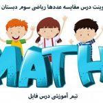 پاورپوینت درس مقایسه عددها ریاضی سوم دبستان