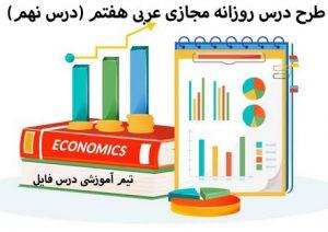 طرح درس روزانه مجازی عربی هفتم (درس نهم)